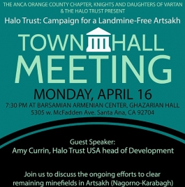Townhall in Orange County to Focus on HALO Trust ArmenianBD