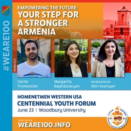 Homenetmen Youth Forum to Focus on 'Empowering the Future: Your Step
