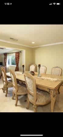 Elegant Classic Antique Italian Dining Room Set Large Table 10