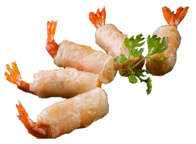 Phyllo Wrapped Prawns With Food Busker