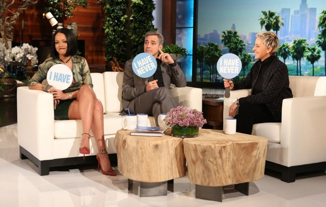RIHANNA - The Ellen Show (With George Clooney)