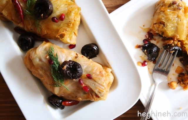 Armenian Pasus Tolma - Stuffed Cabbage Leaves Recipe - Heghineh Cooking Show