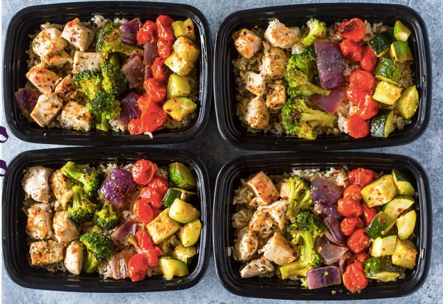 Three Healthy Meals: Breakfast, Lunch, and Dinner