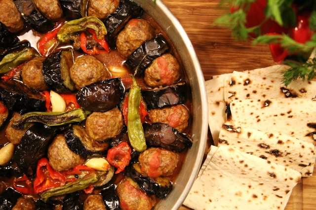 Urfa Kebab - Fried Eggplants and Meatballs - Armenian Cuisine - Heghineh Cooking Show